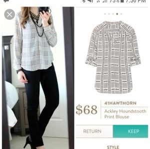 41Hawthorn Houndstooth Blouse Size S